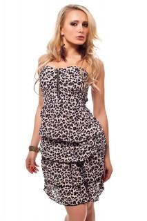 Bandeau Push up Kleid Sommerkleid Minikleid Gepard Muster ...