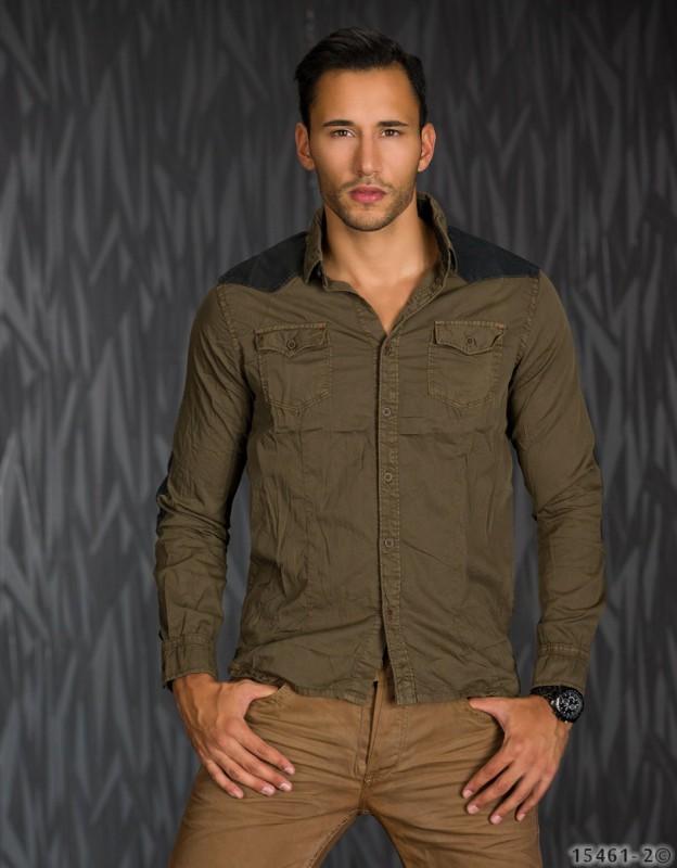 Langarm jeans hemd shirt herrenhemd freizeithemd for Jeanshemd lang