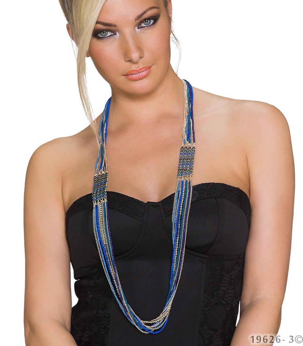 modeschmuck halskette lang damen kette perle modekette. Black Bedroom Furniture Sets. Home Design Ideas