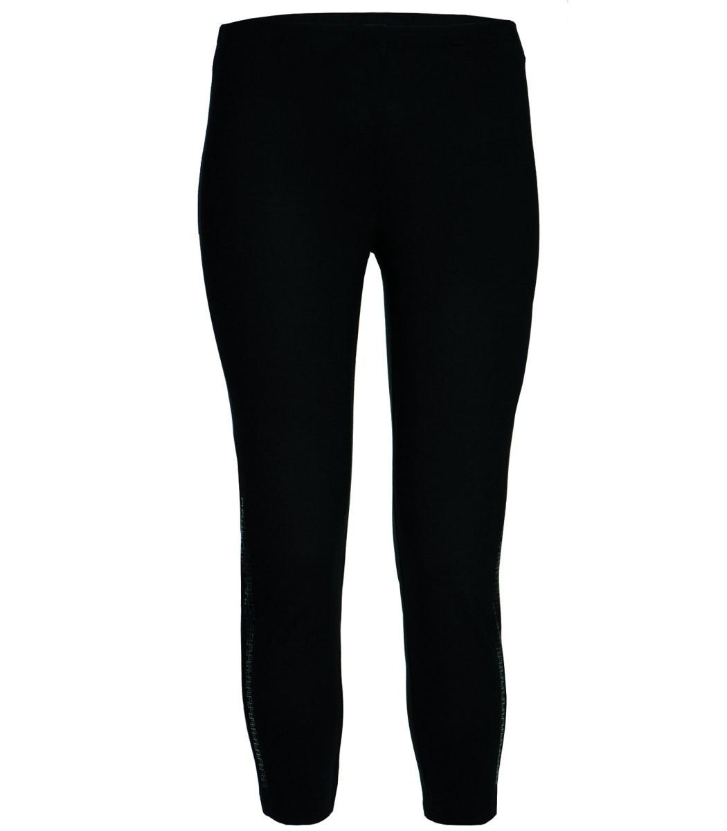damen xxl leggings von chalou in schwarz mit strass. Black Bedroom Furniture Sets. Home Design Ideas