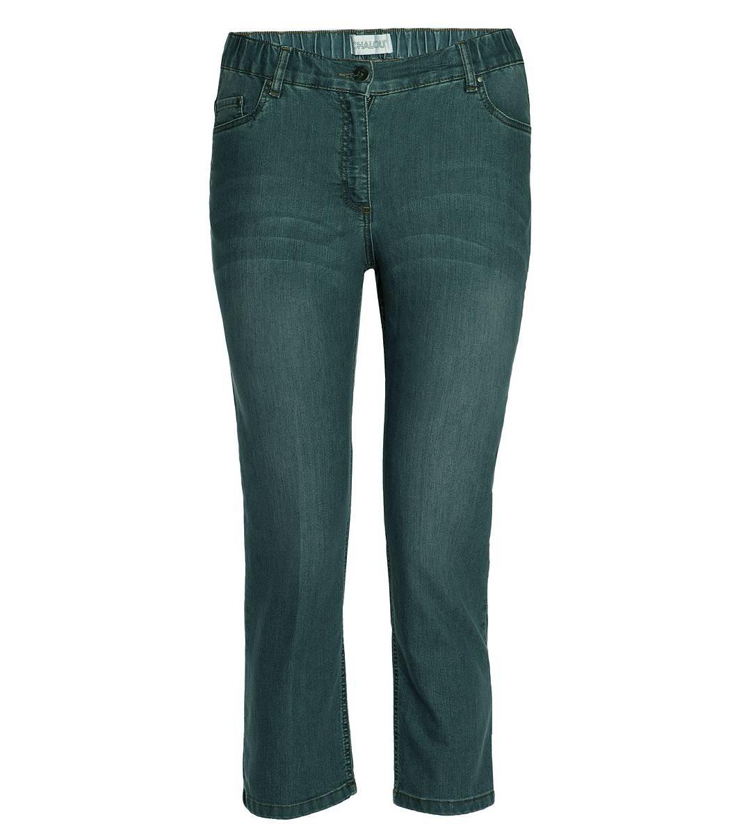 chalou damen 7 8 jeans hose in gro en gr en grau. Black Bedroom Furniture Sets. Home Design Ideas