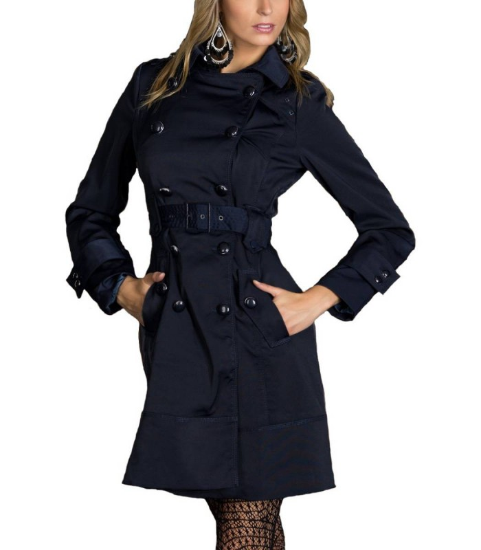 trenchcoat blau damen 16 rabatt damen trench coat blau. Black Bedroom Furniture Sets. Home Design Ideas
